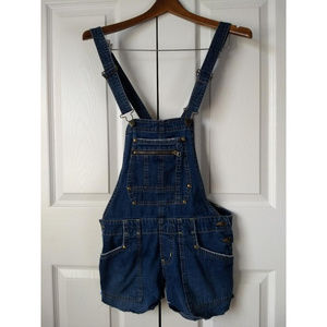 Old Navy Cutoff Denim Jean Overalls Size Small